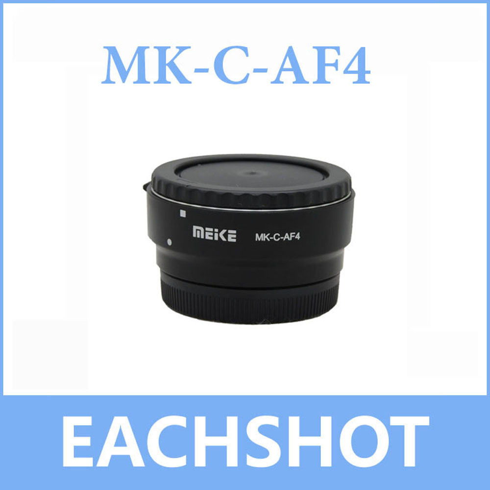US $22 49 13% OFF|Meike MK C AF4 Meike Electronic Auto Focus Adapter for  Canon EF EF S lens EF M to EOS M50 M10 M5 M6 M100 M3 Camera-in Lens Adapter