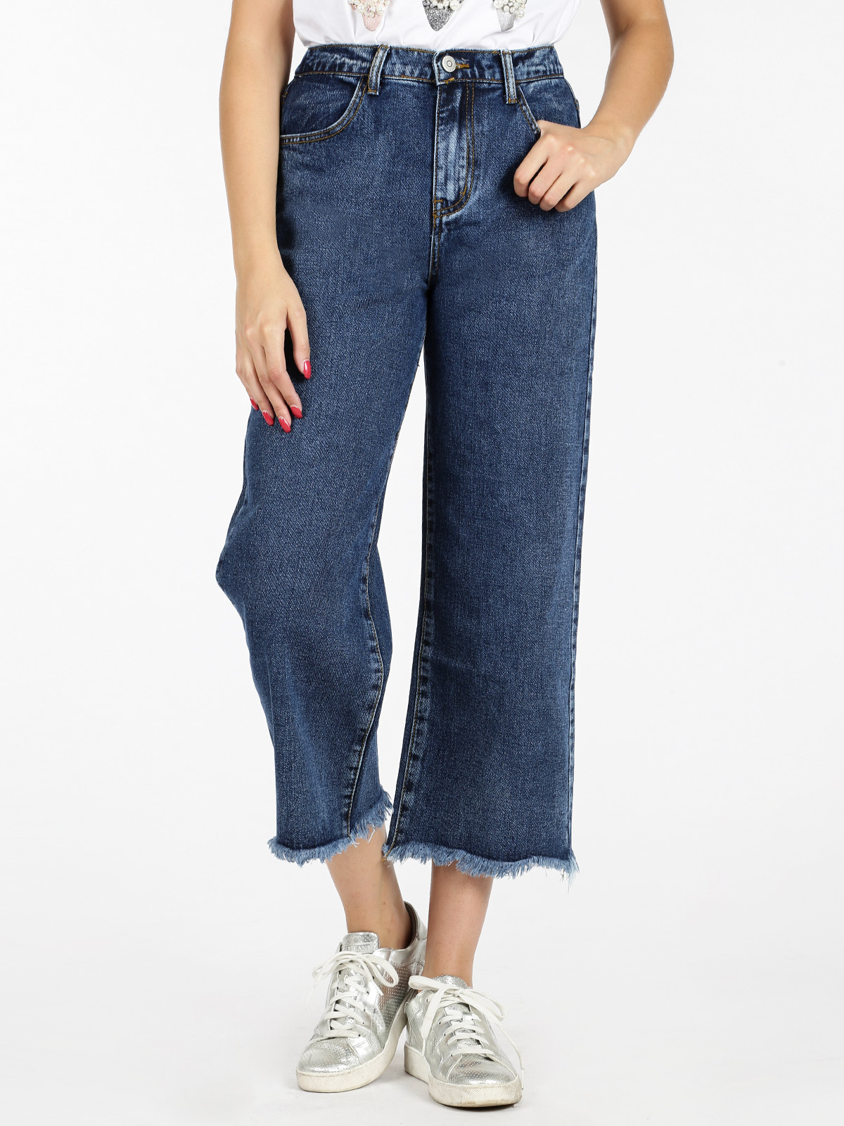 Loose Jeans Frayed Under-push Up
