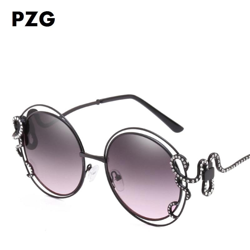 PZG marca Redondo Gafas de aleación material de marco Irregular - Accesorios para la ropa