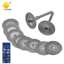 Disques abrasifs, Mini diamant meule de coupe, disques de scie affûteuse, disques rotatifs pour Dremel, 10 pièces 16-50MM