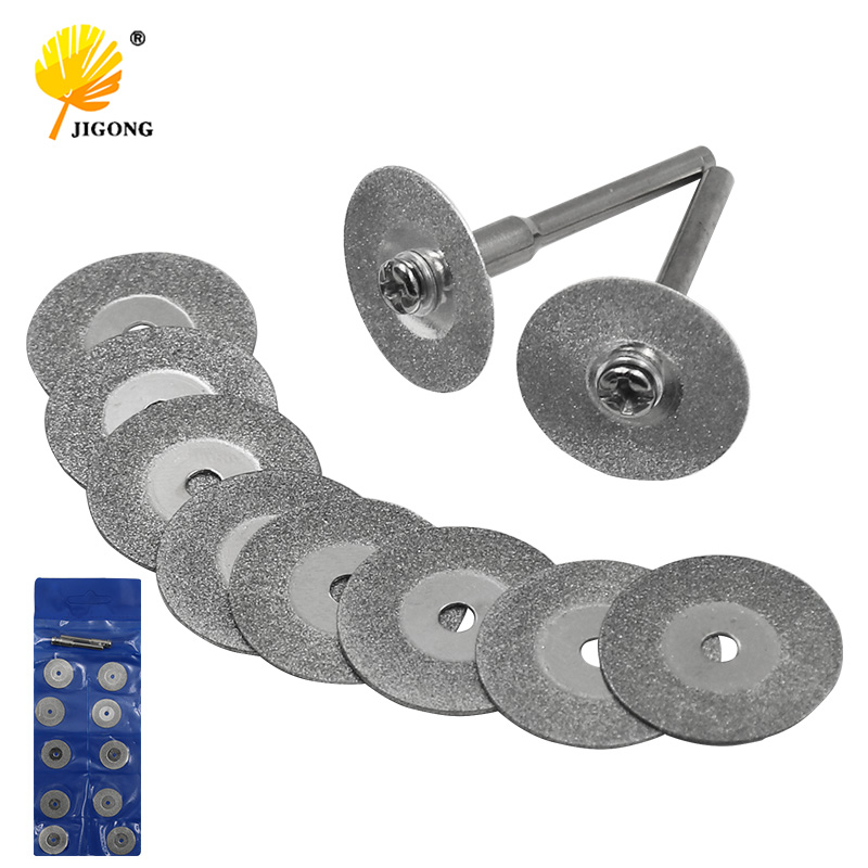 Drillpro 10pcs Diamond Cutting Discs Cut Off Wheel Set For Tool replacement GS