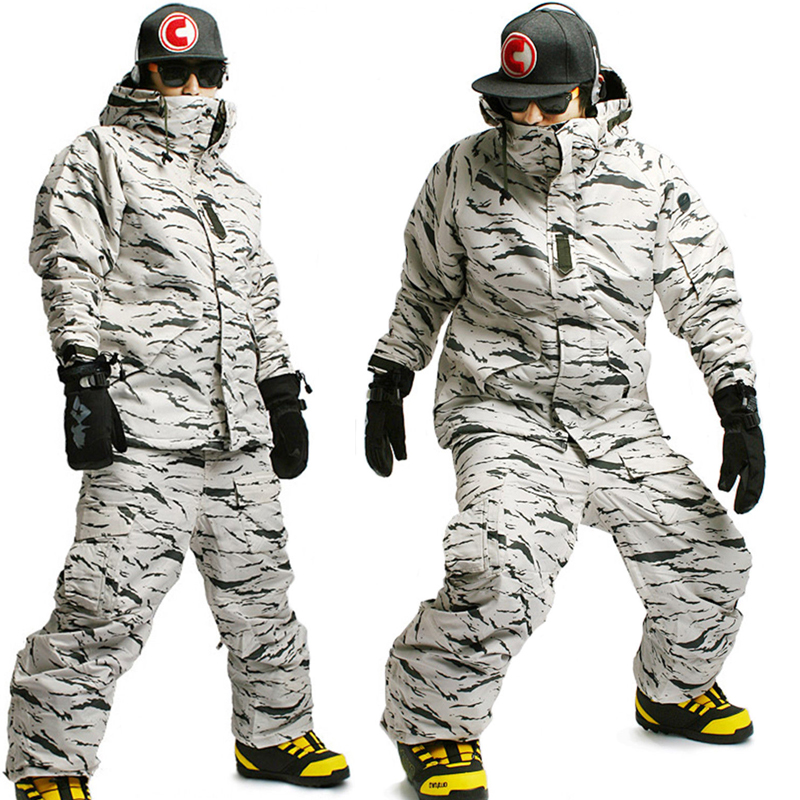 New Edition ''Southplay'' Winter Waterproof 10,000mm Warming (Jacket + Pants)Sets - White Sand