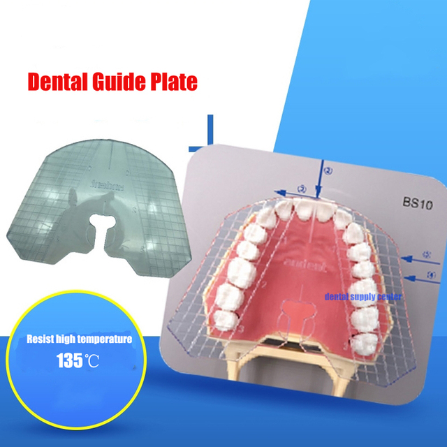 1pc dental laboratory dental plastic guide plate teeth arrangement on denture acrylic work
