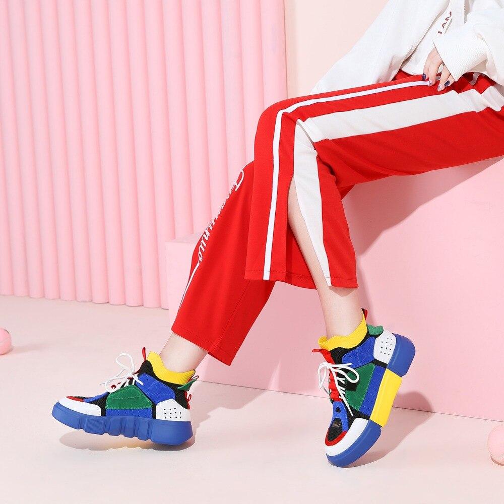 Zapatos de mujer CAMEL primavera planos coreanos deportes al aire libre calle moda Casual zapatos ins Retro costura 3 cm alto zapatos femeninos-in Zapatos vulcanizados de mujer from zapatos    2