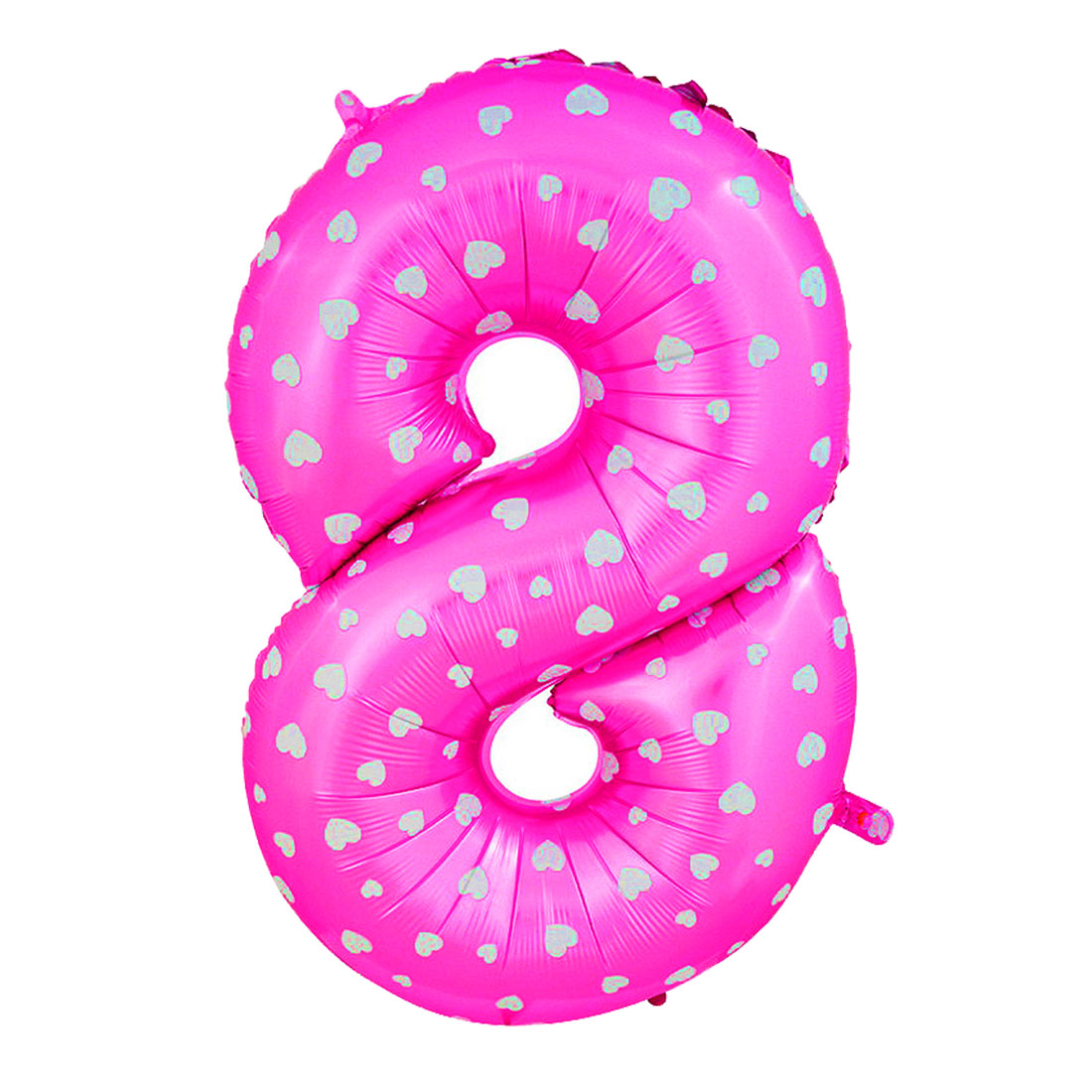 uxcell 16 fuchsia foil number 8 shape balloon helium party birthday wedding anniversary festival decor
