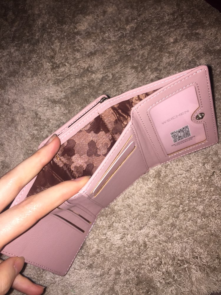 WEICHEN Fashion Trifold Ladies Wallets With Clip Coin Pocket Card Holder Brand Small Wallet women High Quality Female Purse photo review