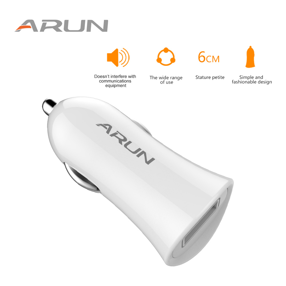 1-ARUN-White-output-USB-DC5V1A-Mobile-Phone-Travel-Adapter-Car-Charger-for-Xiaomi-Huawei-LG-Phones