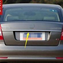 Подходит для 2007-2013 для skoda Octavia A5 хромированная Задняя Крышка багажника Отделка крышки багажника отделка молдинг полосы аксессуары
