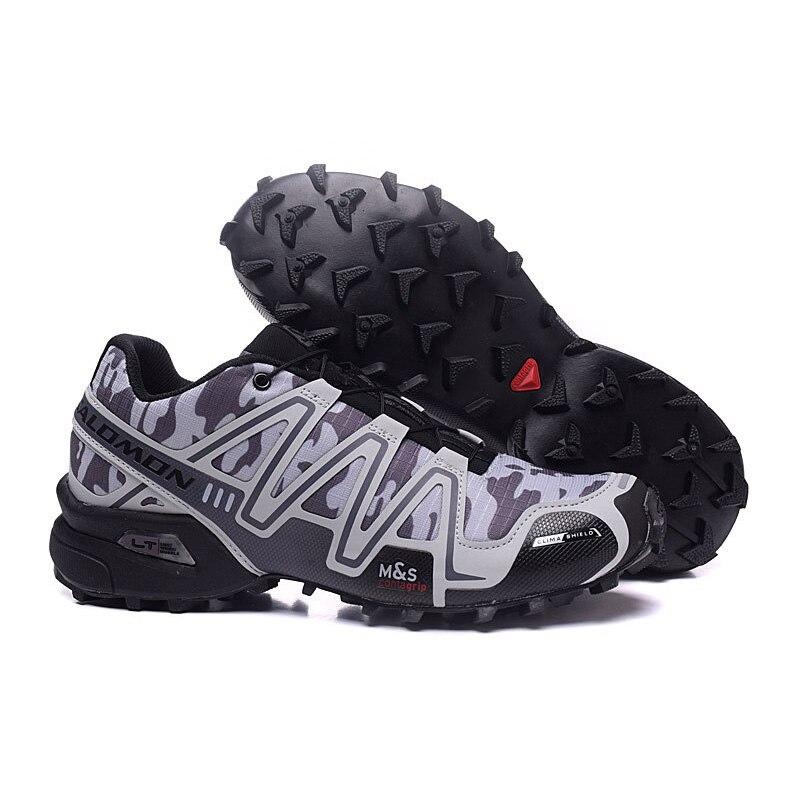 2018 New Salomon Speed Cross 3 CS III Outdoor Light gray camouflage running Shoes speed cross men running shoes eur 40-46