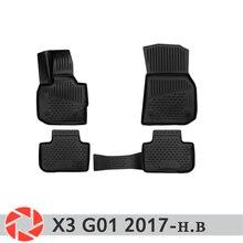 Для BMW X3 G01 2017-Коврики для пола Нескользящая полиуретановая предохранение от грязи интерьерные Аксессуары для автомобилей