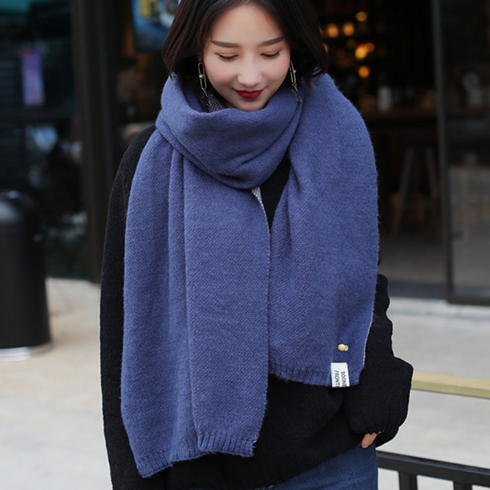 Image Fashion Cashmere Knitted Scarf Shawl Pineapple Women Winter Neck Wrap Warmer