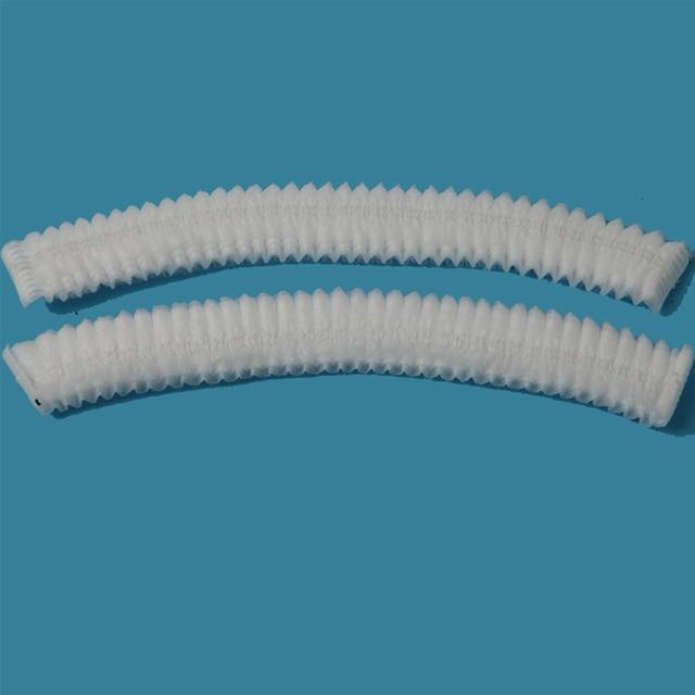 100 adet Tek Kullanımlık saç duş başlığı sigara dokuma pileli anti toz hat otel salonu banyo kap Tıbbi/Gıda/ temiz oda renkli beyaz/mavi