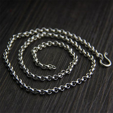 100% 925 Silver 0 Link Chain For Women Men Accessorice S925 Thai 3MM 3.50MM 4MM Solid Silver Jewelry Making Necklaces TYC153 недорого