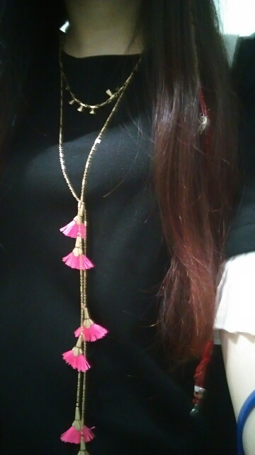 Multi Layer Long Bohemian Necklace Tassel - Gold*