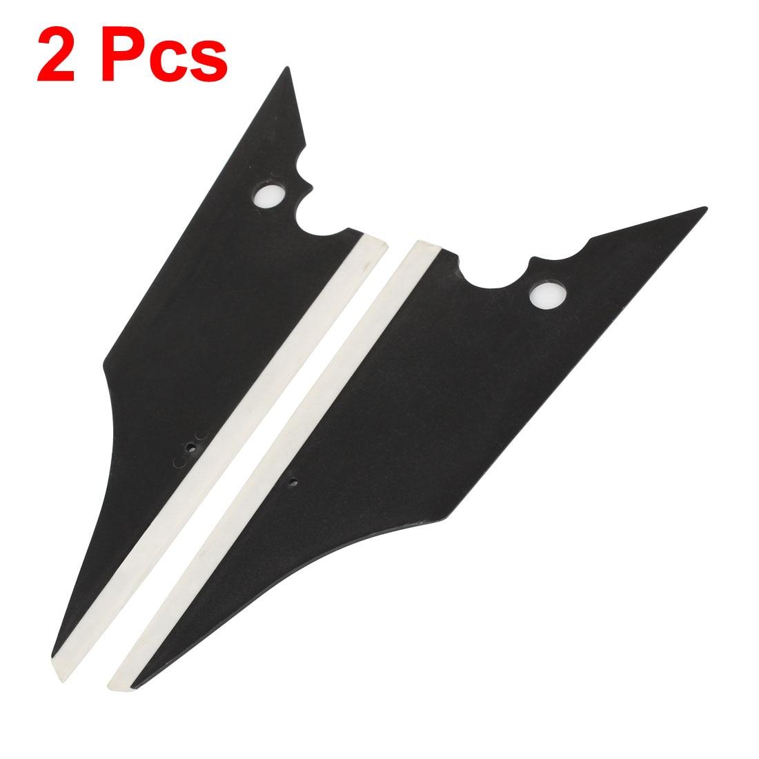 UXCELL 2 Pcs 22.5Cm Long Black White Car Window Film Tint Plastic Scraper Cleaning Tool