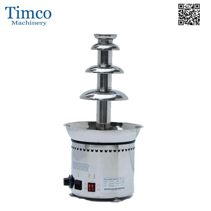Chocolate Fountain Machine 4 Tiers Layers Stainless Steel Commerical Home Cream Fondue Maker