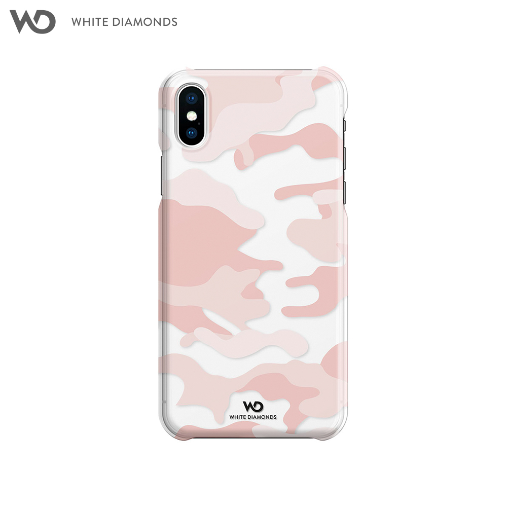 Case-pad White Diamonds Camouflage Case Rose Gold for iPhone XS/X color rose gold gold color silver color multi layers chain necklace