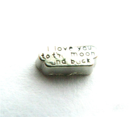 20PCS Engraved Letters I Love You To The Moon And Back Alloy Floating Charms Fit Glass Locket Charms DIY Jewelry Accessories