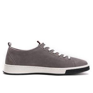 Image 5 - ¡Novedad de primavera! Zapatos para hombre de color CAMEL de cuero genuino a la moda informal para hombre, estilo inglés, piel de vaca con textura salvaje, zapatos de moda joven para hombre