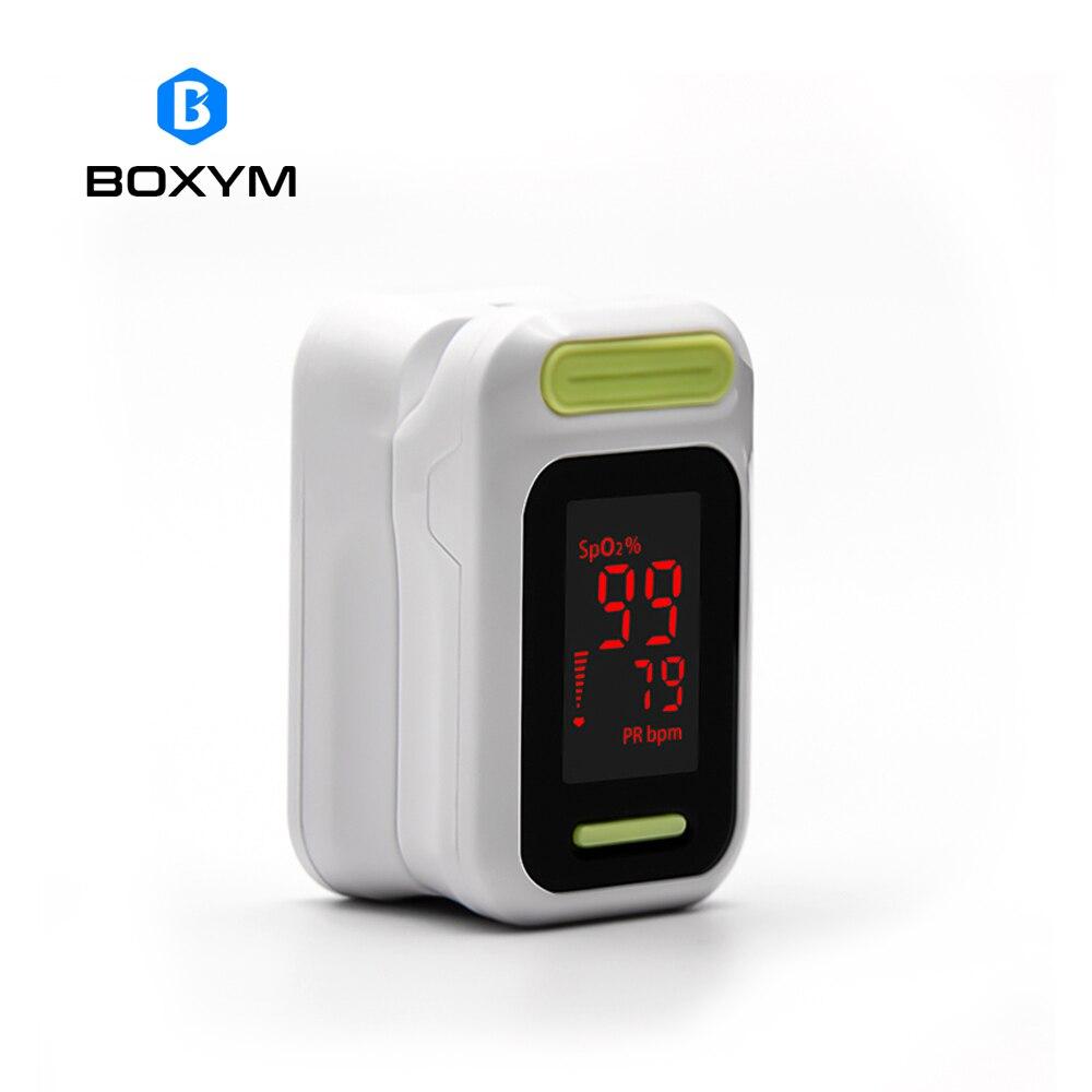 BOXYM Medizinische digitale LED Finger-pulsoximeter Blut Sauerstoff Sättigung Monitor De Pulso Oximetro Gesundheit Pflege