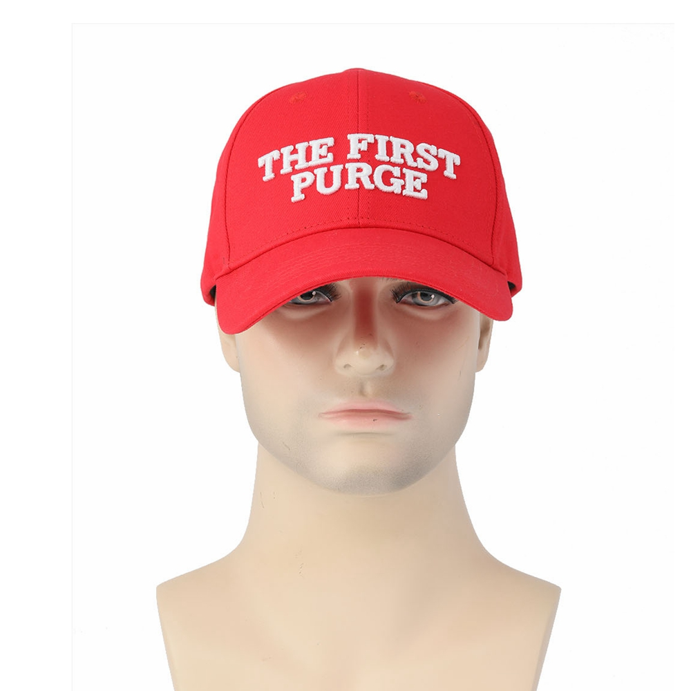 The Purge Cosplay Polite Leader Red Cotton Hat Cosplay Accessories Brand Sale Halloween Cosplay Costume Prop