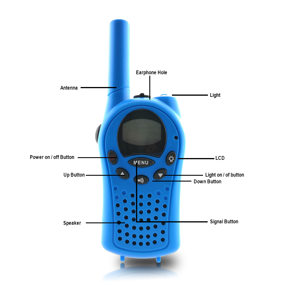 Image 4 - 2pcs Mini Walkie Talkie for Kids Radio FRS/GMPS 8/22CH VOX Flashlight Lcd display UHF 400 470 MHZ two way radios Intercom Gifts-in Walkie Talkie from Cellphones & Telecommunications