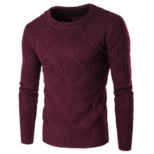 2017 Brand New Sweaters Mens Autumn Winter Style Pure Color Plain Knitted Pullover Men's Round-neck Casual Men Sweater Jumper