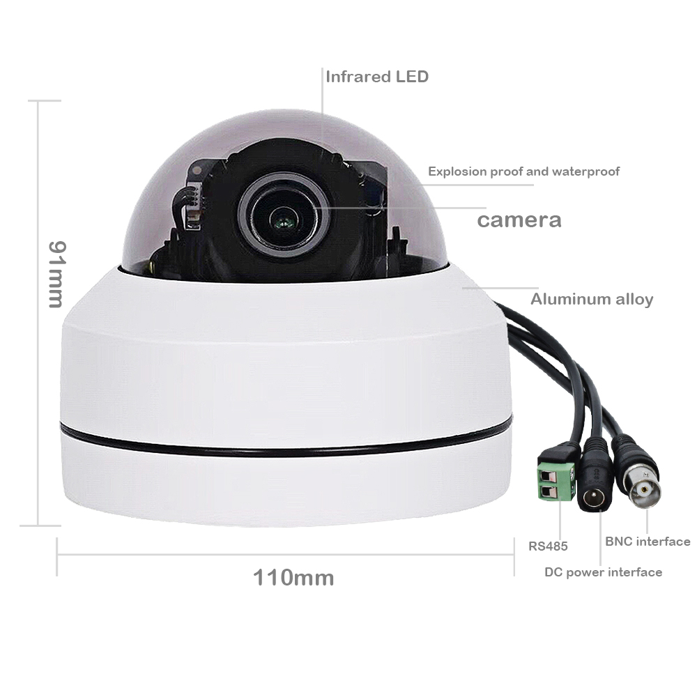 Image 2 - 1080P 5X Zoom 2.5inch AHD PTZ Camera MINI PTZ Dome Camera Outdoor Vanda proof CCTV Camera for CCTV System-in Surveillance Cameras from Security & Protection