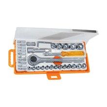 Набор инструментов SPARTA 13541 (36 предметов, высококачественная сталь, отвертка, торцевые головка, ключ трещоточный, насадки)