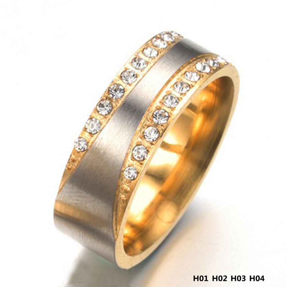 Лидер продаж Мода Свадебная пара Обручение кольцо мужчина и Famale Promise Ring Титан Сталь пара Кольца
