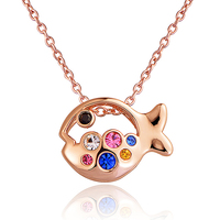 DORMITH real 925 sterling silver necklace lovely fish Pendant Necklaces for women Jewelry necklace
