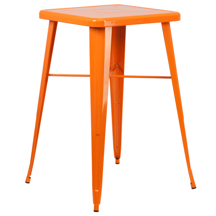 Flash Furniture 23.75'' Square Orange Metal Indoor-Outdoor Bar Height Table [863-CH-31330-OR-GG] vostok часы vostok 819770 коллекция командирские классика