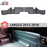 Almohadillas debajo de los asientos traseros para Lada Largus 2012-2018 cubiertas en accesorios de borde de alfombra protección de alfombra estilo de coche