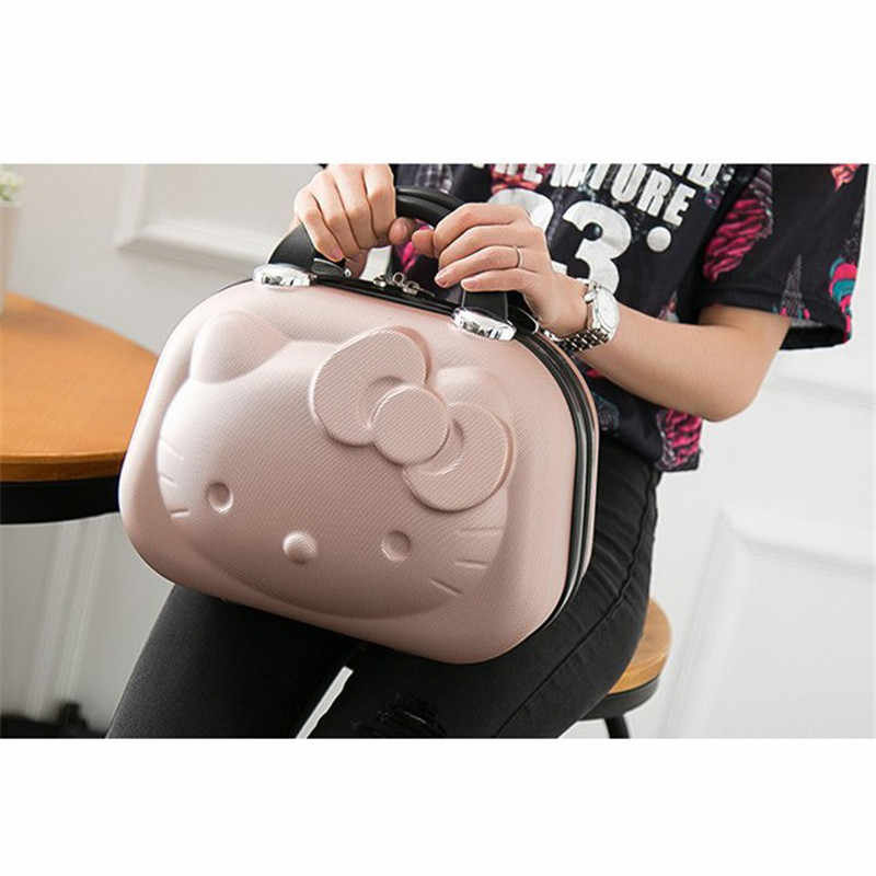 Горячая 13 дюймов Бизнес сумка hello Kitty для девочек троллейбус случае ABS Повседневная багаж Модные женские чемодан для хранения подарок