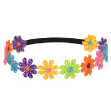 NEW Childrens Colorful Sunflowers Headband Hair Band Head Hoop With Black elastic band-Colorful