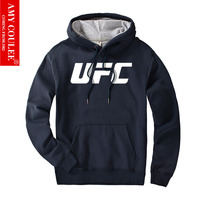 UFC Printing Hoodies Ultimate Fighting Championship Fans Club Men Gyms Bodybuilding Thick Pocket Tracksuit Sweatshirts Zipper