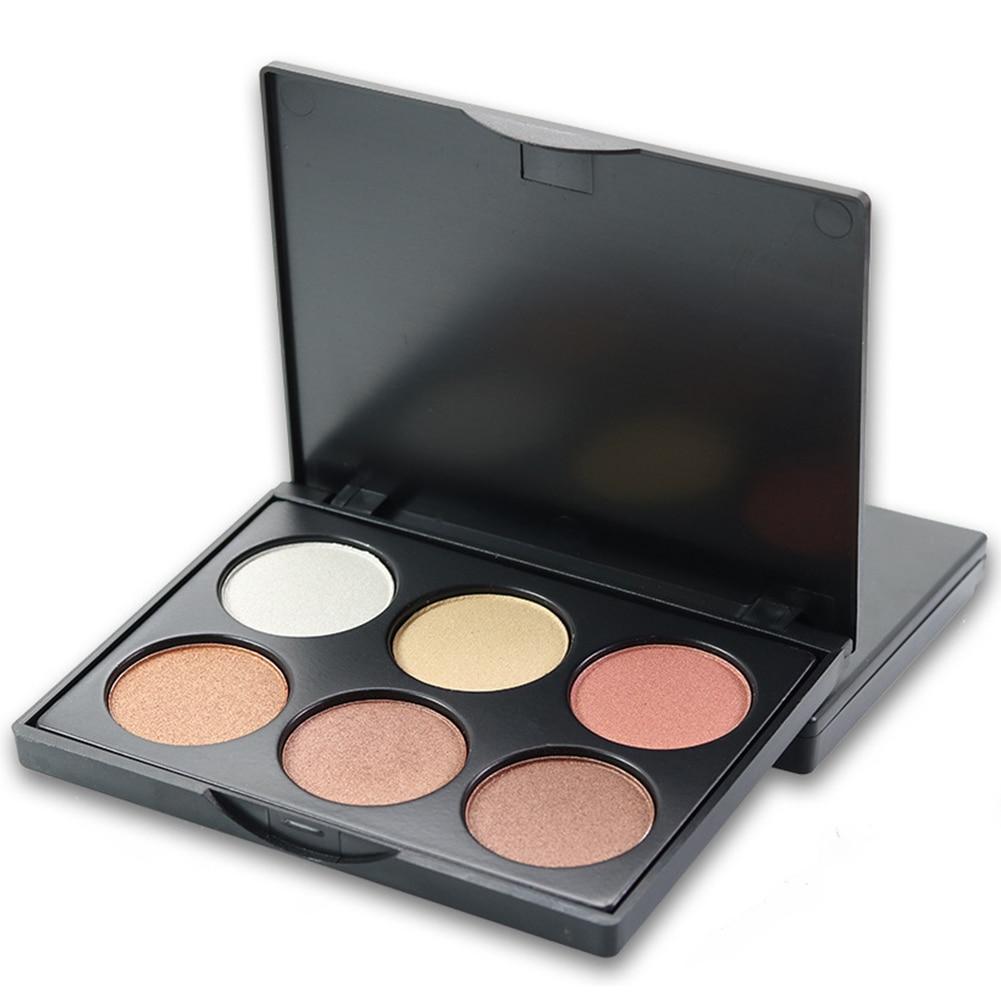6 цветов Для женщин блеск эффект Тени для век Палитры длительный косметический Макияж