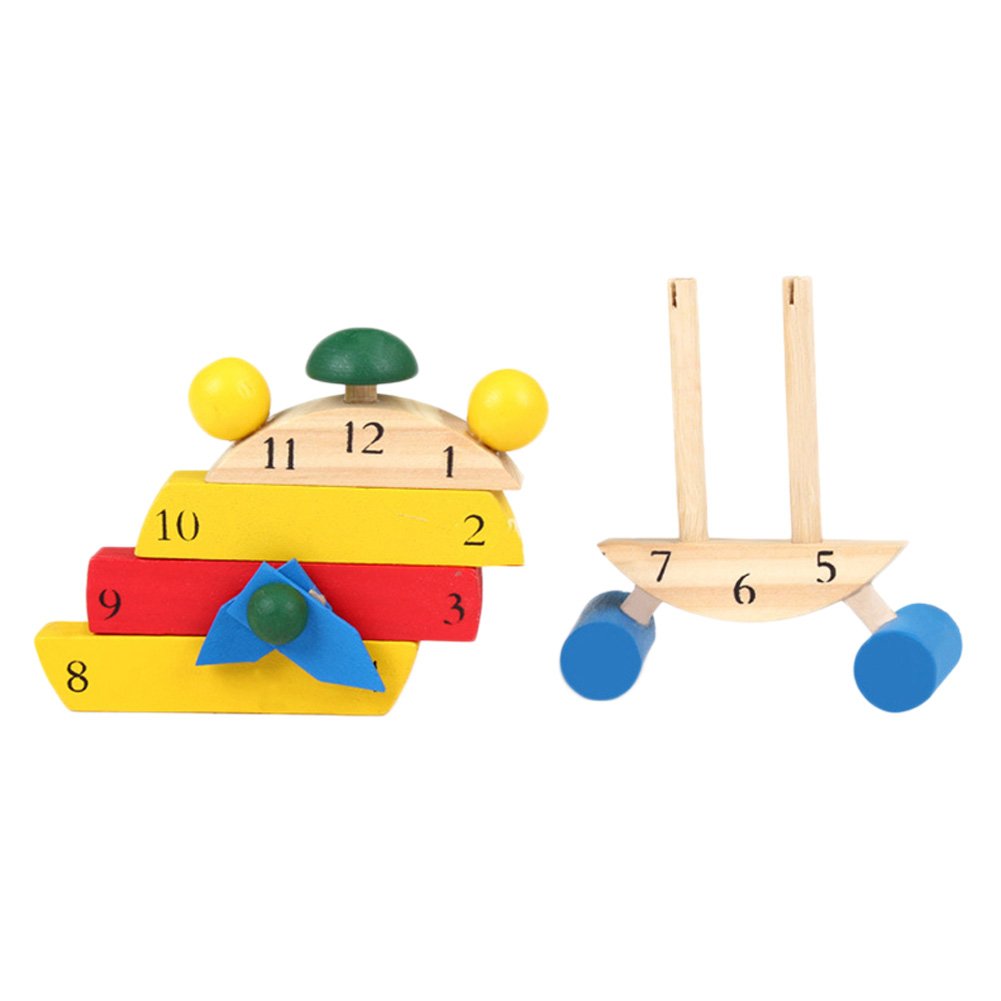 1 Set Baby Wooden Montessori Educational Color Digital Cognitive Learning DIY Clock Toys Clock Model Jigsaw Puzzles Gifts Kids