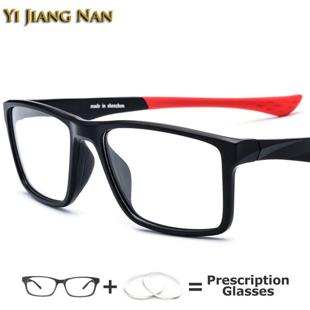Yi Jiang Nan marque sport lunettes cadre hommes TR90 lunettes optique Prescription lunettes qualité Occhiali Da Vista Donna 134 mm