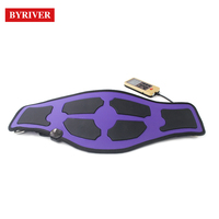 BYRIVER EMS Pulse Massage Belt Electric Slimming Waist Massager Low Frequency Muscle Stimulator 6 mode and Far Infrared Heating