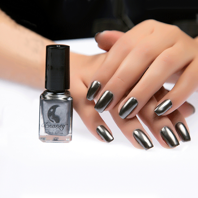 6 Ml Spiegel Effect Nagellak Metallic Nail Art Glitter Shiny Pigment