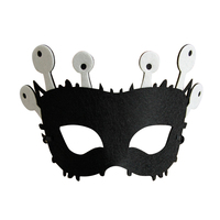 Cute Cartoon Monster Horn Eye Mask Decor for Masquerade Halloween Fancy Party