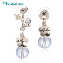 2017 Sale New Earings Pendientes Mujer Simple Fashion Flower Women Set Drop Earrings Alloy Material For Elegant Design Jewelry