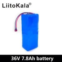 LiitoKala 36V 7.8Ah 500w 18650 סוללה נטענת  שונה אופניים  רכב חשמלי 36V הגנה עם BMS