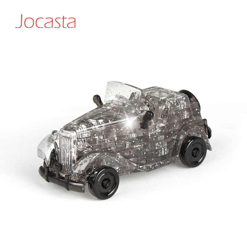 DIY Funny 3D Crystal Puzzles Classic Car Assembled Model Birthday Gifts Vehicles Puzzles Jigsaw Educational Toys For Children [