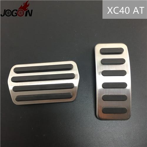 Для Volvo XC60 S60 V60 S80 XC90 S90 V90 XC40 V40 S40 C30 газовый топливный ускоритель сцепления педаль тормоза Накладка на MT - Название цвета: XC40 AT