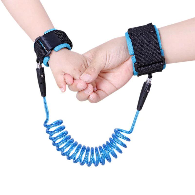 Adjustable Kids Safety Harness Child Wrist Leash Anti-lost Link Children Belt Walking Assistant Baby Walker Wristband 1.5M/2.5M#