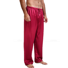 Mens Silk Satin Pajamas Pyjamas Pijama Lounge Pants  Sleep Bottoms S~4XL Plus Size