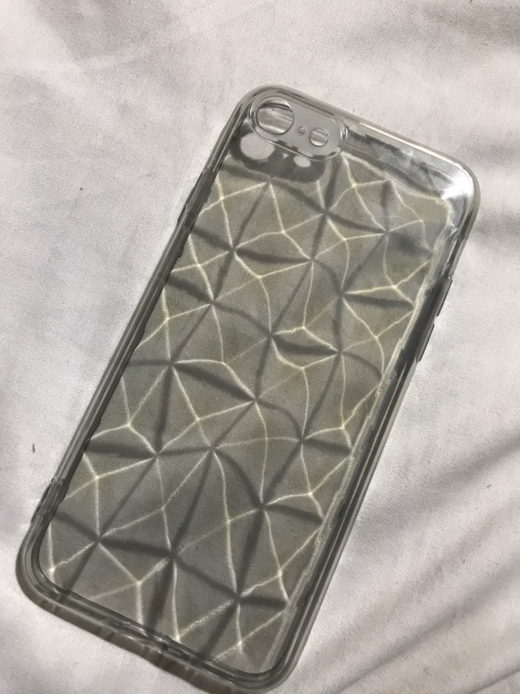 Funda Transparente Textura Diamante para iPhone photo review
