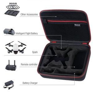 Image 3 - Smatree D400 Storage Bag Carrying Case for DJI Spark Drone/Remote Control/Batteries with Shoulder Strap